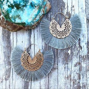Anthro Amelia Filigree Hoop Earrings